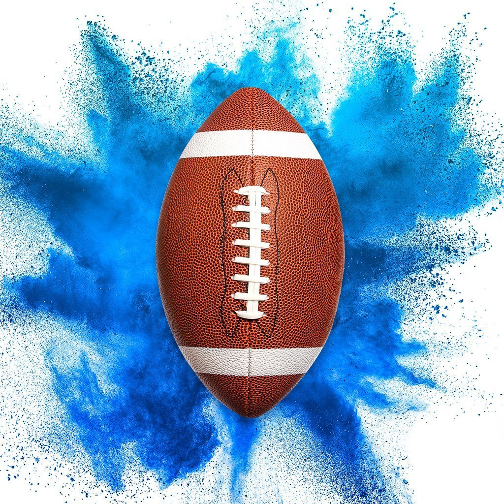 football - blue background