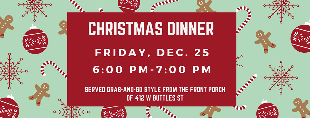 Open Door Christmas Dinner flyer