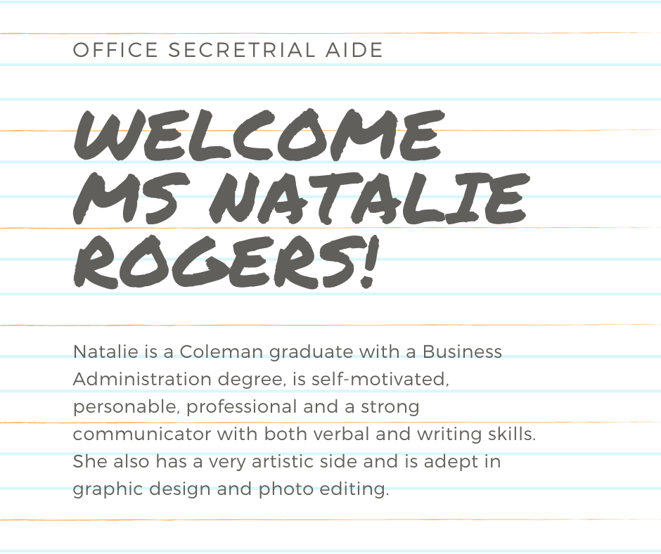 Welcome Natalie Rogers