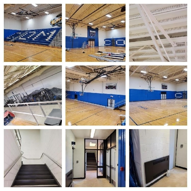 Jr./Sr. High Gym Before & After